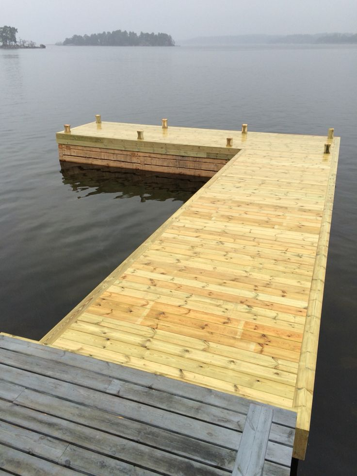 Another brygga/jetty finished in Stockholms Archipelago.