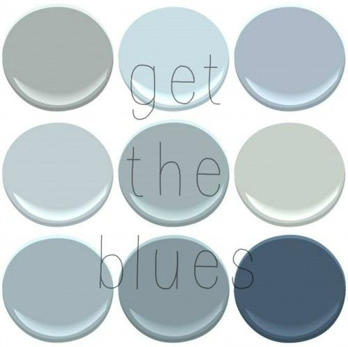 NOW WHERE WERE WE? AH YES..Lets talk about BLUE..  BENJAMIN MOORE BLUES: BOOTHBAY GRAY, BREATH OF FRESH AIR,NOVEMBER SKIES, MT RAINER GRAY, NIMBUS GRAY, QUIET MOMENTS, SANTORINI, VAN CORTLAND BLUE, VA