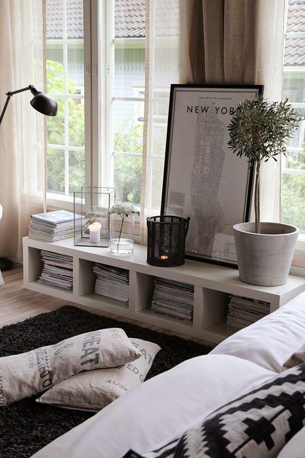 Como aprovechar con estilo el hueco de debajo de las ventanas   Decorar tu casa es facilisimo.com