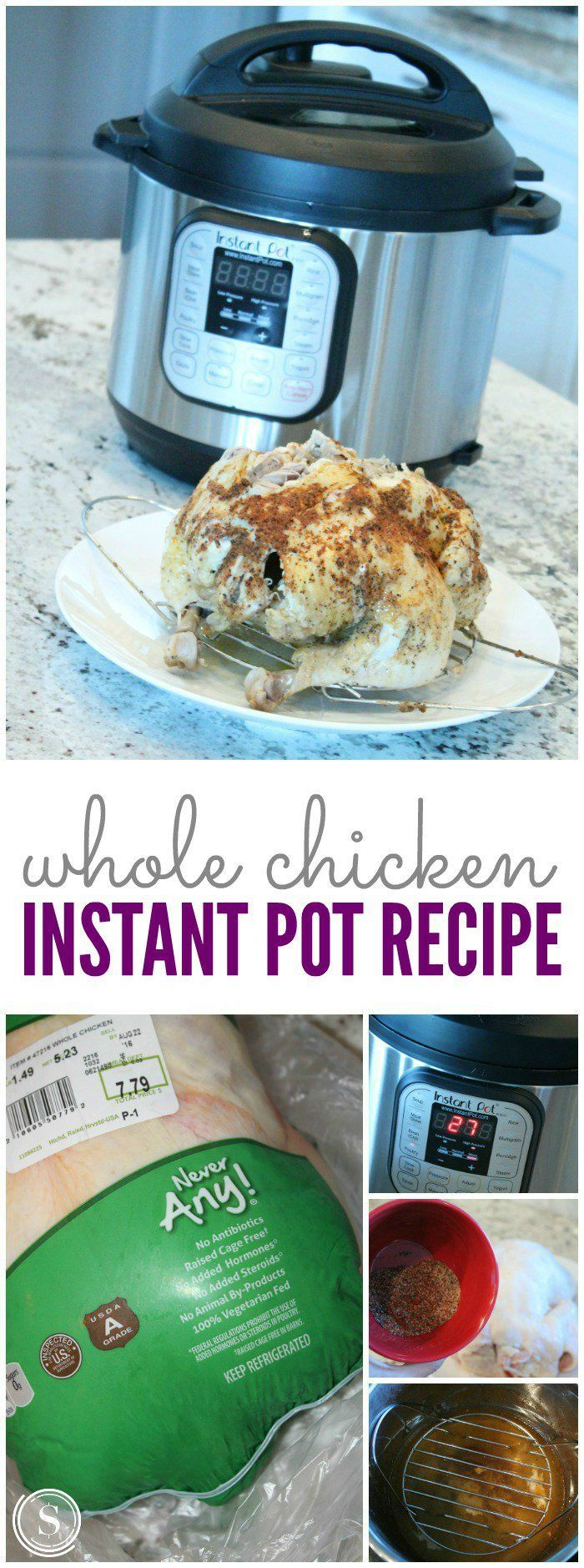 Instant Pot Whole Chicken Recipe! This is a great way to prepare your meat for your freezer cooking or crockpot meals!