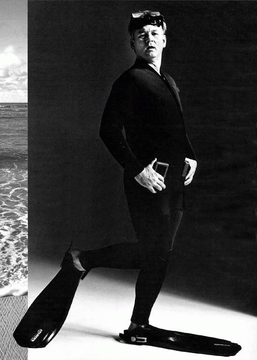 Bill Murray (in flippers)