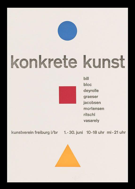 KONKRETE KUNST modern art poster FONT ID | Typophile