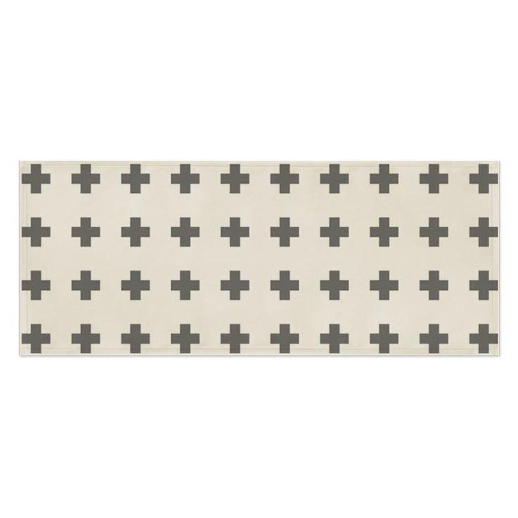 Fabric Prints Tablecloth Desk Cover Mat 100X45Cm Table Runner Cross Pattern Art