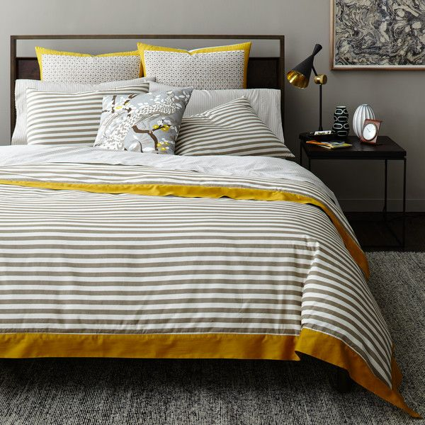 draper stripe ash duvet cover - Modern Duvet Covers