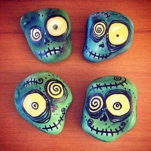 DIY gemalte Felsen inspirierende Ideen