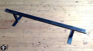 "6' long flat bar skateboard rail. 1 1/2"" x 3"" 11 ga. steel. Get yours @ Subsect Skate Shop in DSM."