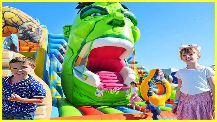 BOUNCY CASTLE SLIDE GIANT INFLATABLE Family Fun For Kids Play Centre Act...