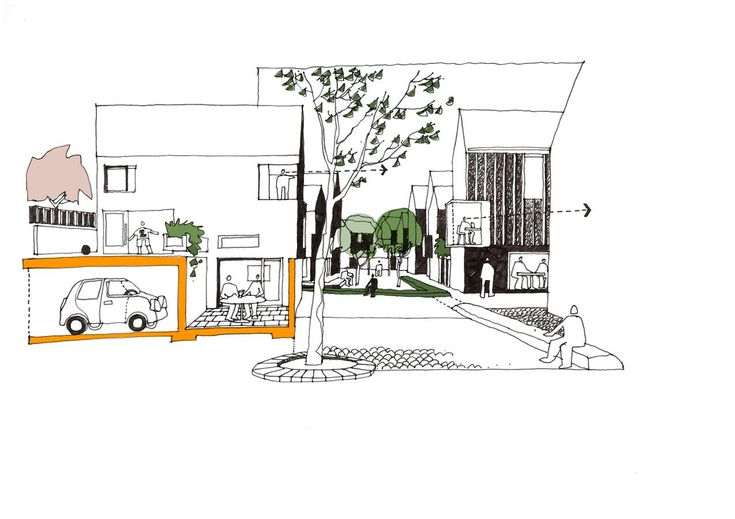 Concept sketch of the Village Amble