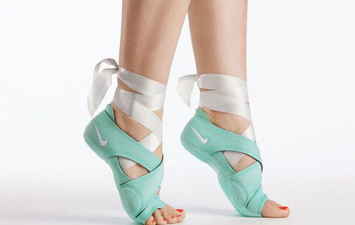 adorable dance shoes from nike (Nike Studio Wrap Pack) to help with support for barefoot activities like dance, yoga, barre, etc. it has a three-part footwear system combines a barefoot feel with protection, traction, support and style