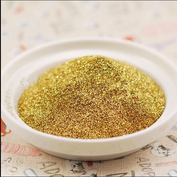 Free shipping 100g Metal gold color glitter powder Sequin Powder For Makeup  Nail Art Christmas gifts craft candles and so on
