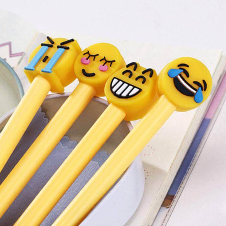 1 Unids Emoji Canetas Gel Pens Set Kawaii Álbum de Fotos Lindo Material Escolar Oficina Pluma de Tinta Gel Pens Papelería Escritura estacionaria(China (Mainland))