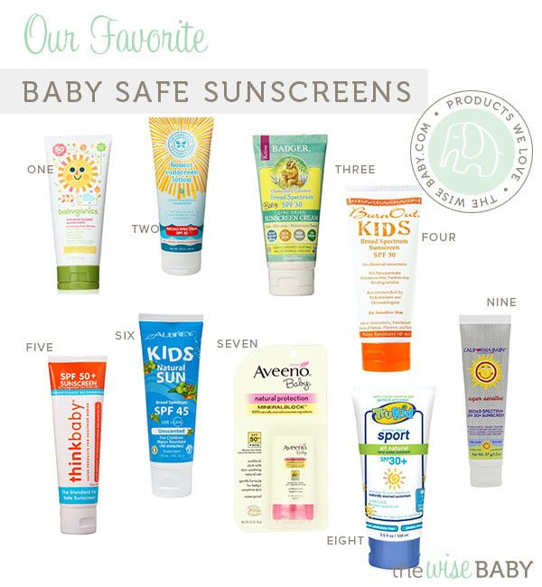 Our Favorite Baby Safe Sunscreens, recommendations from The Wise Baby. Also recommended, have babies wear SPF clothing instead of sunscreens when under 6 months old. Check out the above recommendations for older babies, and if under 6 months see our sun blocker rompers: http://www.shopkidzstuff.com/sun-blocker-romper/