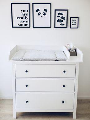 Unser Wickeltisch // #ikeahack Wie hat die schlanke Kommode Hemnes Ikea …   – Wohnzimmer ♡ Wohnklamotte