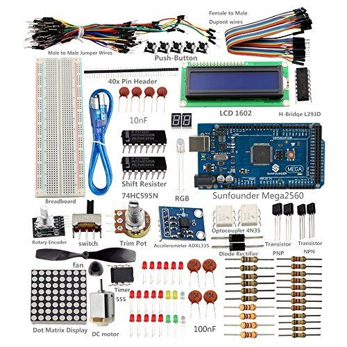 Nuova offerta in #elettronica : SunFounder Project Super Starter Kit with Tutorial Book for Arduino UNO R3 Mega2560 Mega328 Nano (with MEGA 2560) - Including 73 Page Instructions Book a soli 36.71 EUR. Affrettati! hai tempo solo fino a 2016-11-16 23:29:00