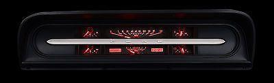 1967-1972 Ford Pickup Truck Gauge Kit Dakota Digital carbon red VHX-67F-PU