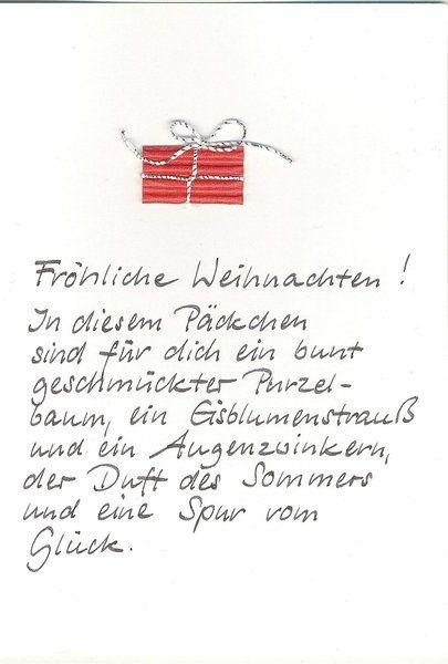 Weihnachtskarte Päckchen von Kartenfreude auf DaWanda.com