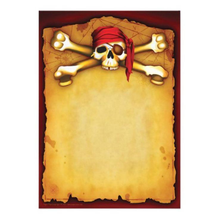 Открытка в стиле пиратов