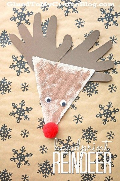 Handprint Reindeer - Kid Craft Idea