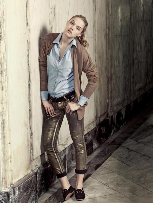 Paula Cahen D´Anvers AW12 - Cárdigan Erin (con apliques de raso)  100%merino wool - 14gg