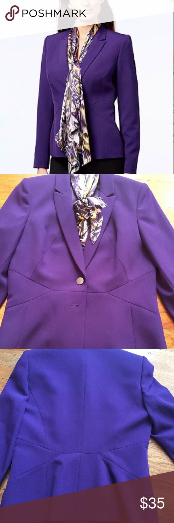 Kasper Purple Blazer Career Suit Petite Size 10 This Plum/Purple jacket was purchased at Macy's but never worn. It is a great vintage looking piece to brighten up any suit Kasper Jackets & Coats Blazers