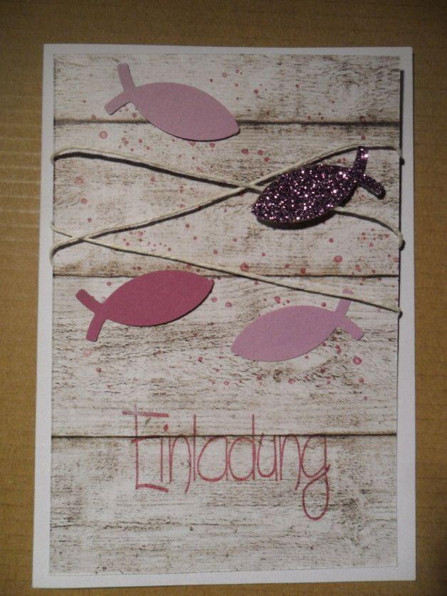 Einladungskarten - Einladungskarte zur Kommunion * Konfirmation - ein Designerstück von kreatives-allerlei bei DaWanda