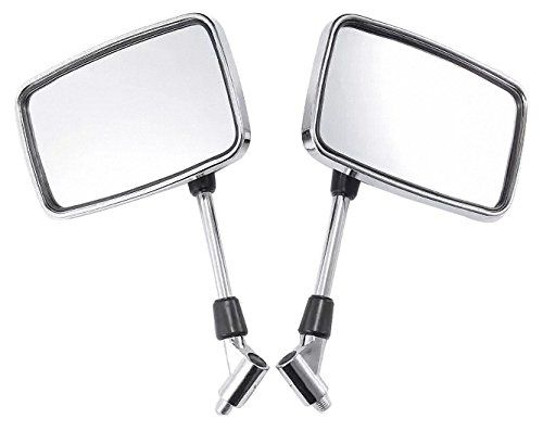 Big Chrome Retangle Mirrors for 1995 Yamaha Virago 535 XV…