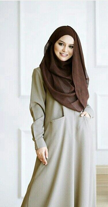Simple jubah with pockets @Rinasallehclothing