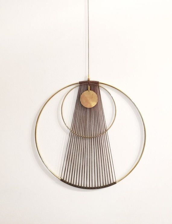 Boho chic Modern brass Wall Hanging – #Boho #brass…