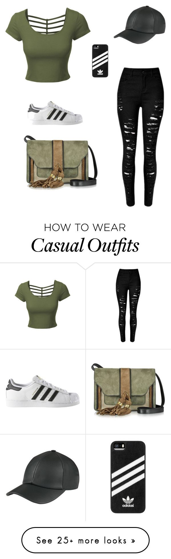 """Casual walk ?"" by amiller-v on Polyvore featuring LE3NO, adidas and L'Autre Chose"