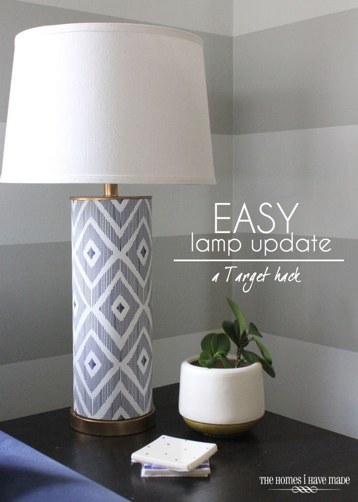 Paint and wallpaper dress up a basic #Target lamp!