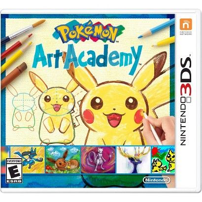 Pokemon Art Academy (Nintendo 3DS) (045496742867) Grab your stylus and start your pokémon-drawing journey in pokémon art academy, launching this fall exclusively on the nintendo 3-Ds and nintendo 2ds systems. This pokémon-themed installment of the art academy series offers pokémon fans and budding illustrators alike 40 unique lessons to learn how to paint, sketch and draw beloved pokémon characters in 2d. Along the way, students of pokémon art academy can pick up actual illustration skills…