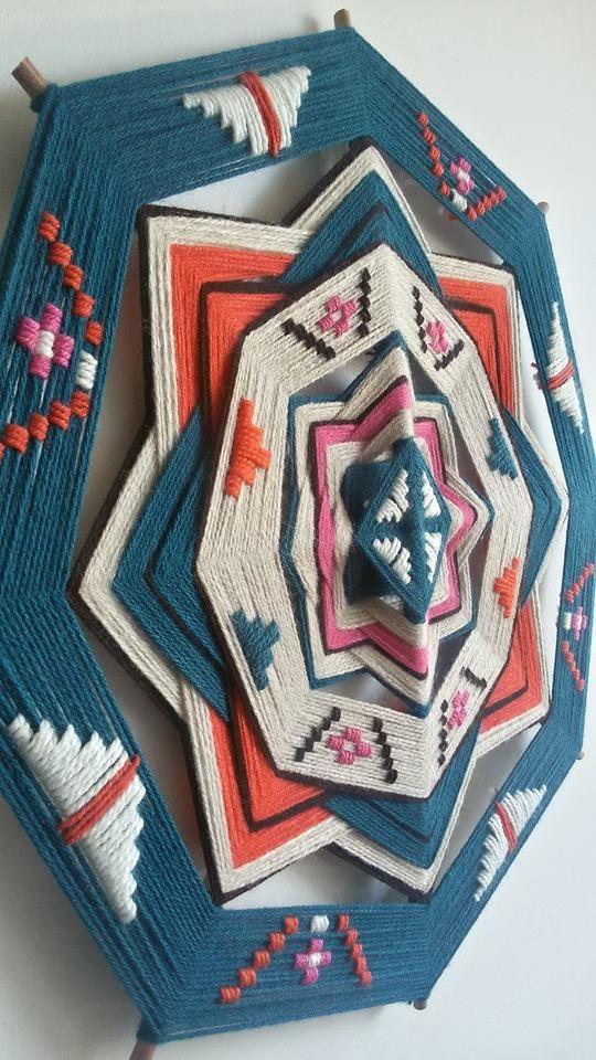 Realizado por Suyai: Mandalas de lana www.facebook.com/suyaimandalasdelanaleslie?fref=photo
