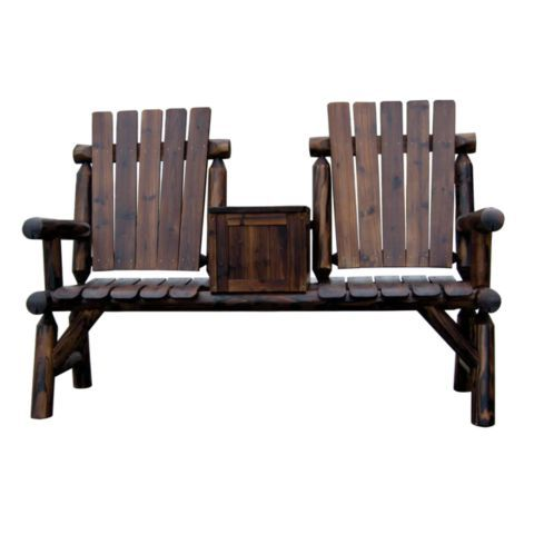 Red Shed Stained Double Log Chair with Storage Box - Tractor Supply Online  Store - 101 Best Images About Beautiful Backyards On Pinterest Outdoor