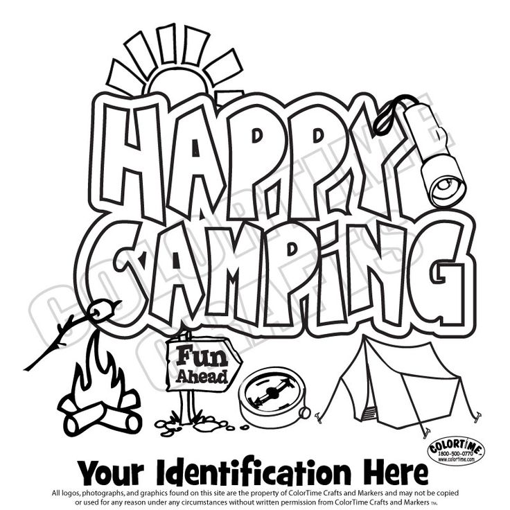 girl scout camping coloring pages happy camping girl scouts pinterest scouts coloring and girl scouts - Girl Scout Camping Coloring Pages