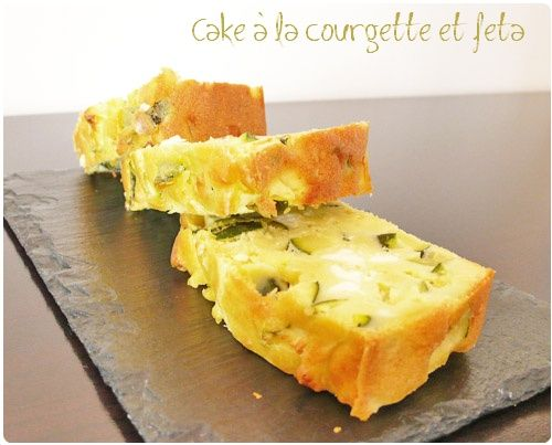 Cake à la courgette, feta et menthe