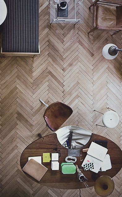 There is something about herringbone floors...