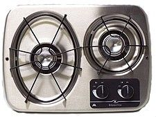 Atwood Dv20 S 56494 Stainless Steel 2 Burner Drop In Cooktop Trailer Camper Rv Rv Parts Tiny