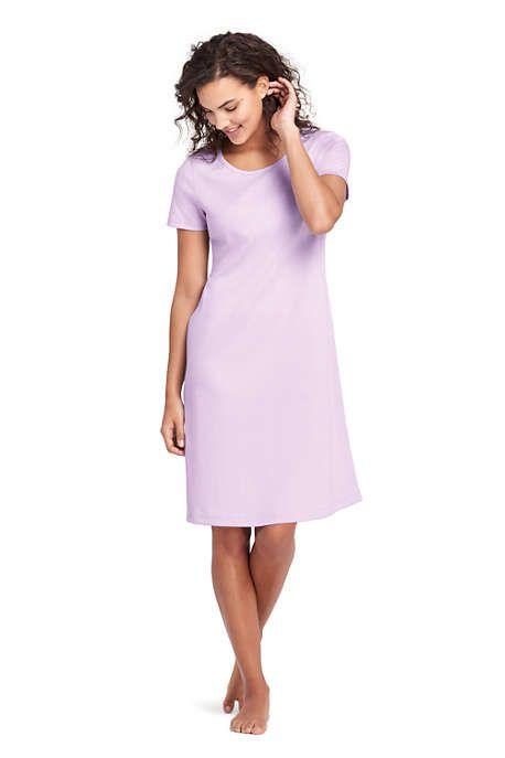 33ad402c663 Women s Knee Length Supima Cotton Nightgown Short Sleeve