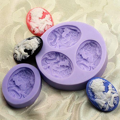 Бесплатная доставка одной и 3 кариес 3D мини торт украшения фея дизайн принцесса стиль пудинг шоколадные конфеты плесень купить на AliExpress