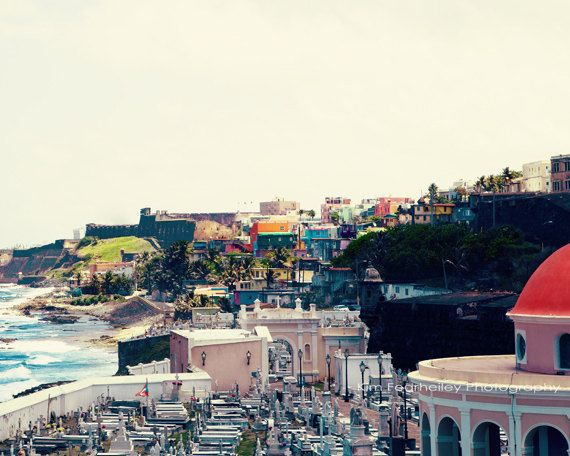 Landscape of Old San Juan  8x10 Fine Art by kimfearheiley on Etsy, $30.00
