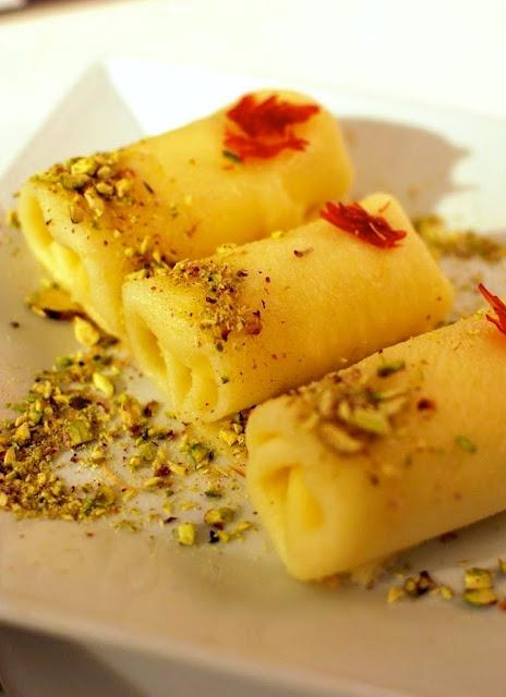 Halawet El Jebn Rolls Sweet Cheese Sheets filled w/ Kashta ...