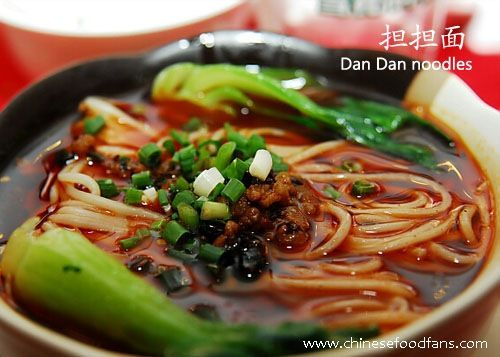 Sichuan cuisine - Spicy Dan Dan Noodles  [a favorite from visiting Sichuan-- and the restaurant across from my old apartment in Cambridge]