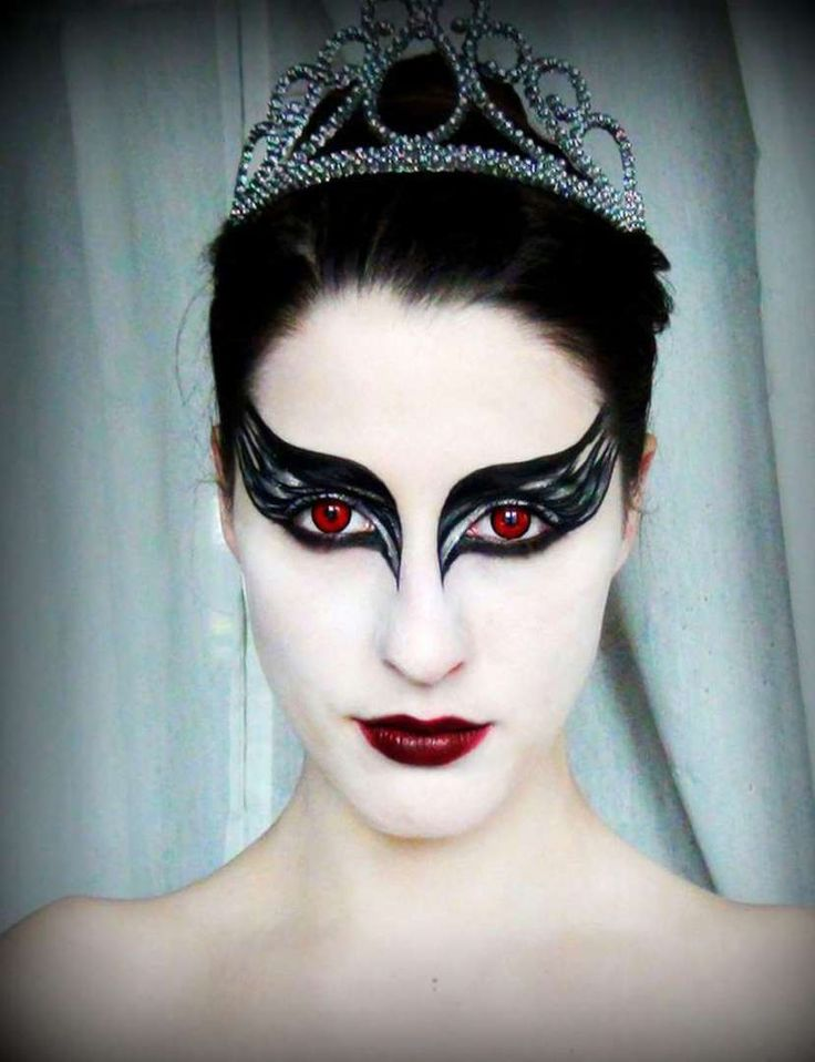 Un maquillage de Black Swan - Capture d'écran Pinterest