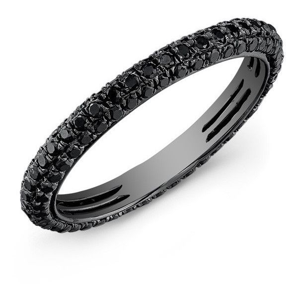 14kt oxidized white gold black diamond ring (£1,095) ❤ liked on Polyvore featuring jewelry, rings, oxidized ring, black diamond eternity band ring, white gold stackable rings, eternity ring and black diamond ring