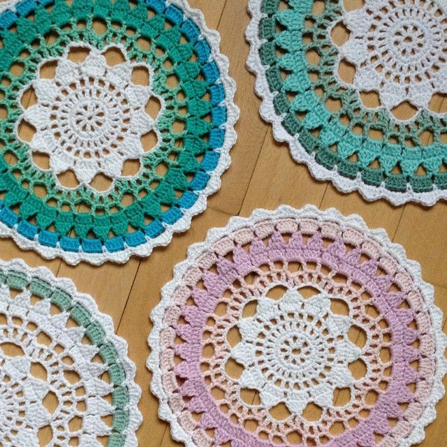 playing with colours  crochet mandala by knitirene                                                                                                                                                                                 Mais