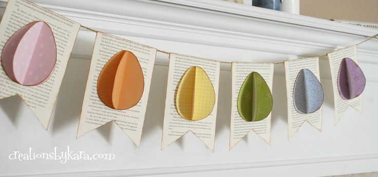 DIY: Step by step tutorial for making a simple Easter Egg Banner. Includes a free pattern.
