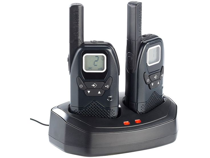 simvalley communications Profi Walkie Talkie Set mit VOX, bis 10 km