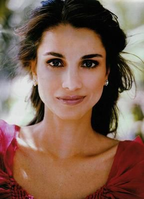 The beautiful Queen Rania of Jordan. I admire her grace, poise and sense of style. She is the new Middle East.