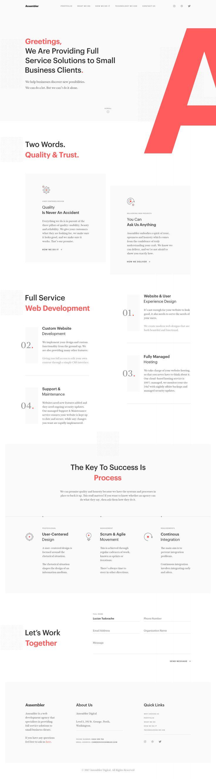 agency  clean  creative  design  grid  homepage  layout  minimal  minimalist  typography  web  website
