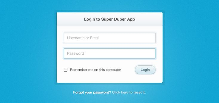 Free PSD: Clean & Simple Login Form | Premium Pixels